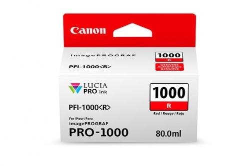 Cartucho Canon PFI-1000 Rojo, 80ml