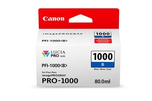Cartucho Canon PFI-1000 Azul, 80ml