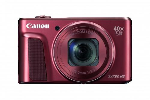 Cámara Digital Canon PowerShot SX720 HS, 20.3MP, Zoom óptico 40x, Rojo