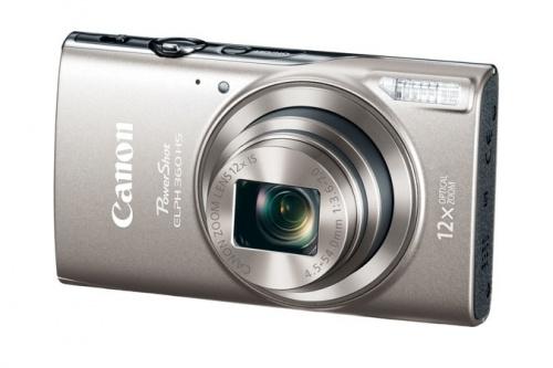 Cámara Digital Canon PowerShot ELPH 360 HS, 20.2MP, Zoom óptico 12x, Plata