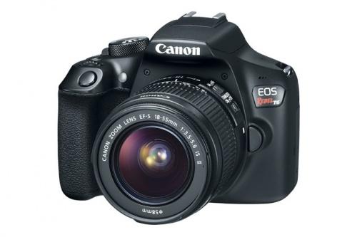Cámara Réflex Canon EOS Rebel T6 con Sensor CMOS, 18MP, Negro + EF-S 18-55mm + EF 75-300mm