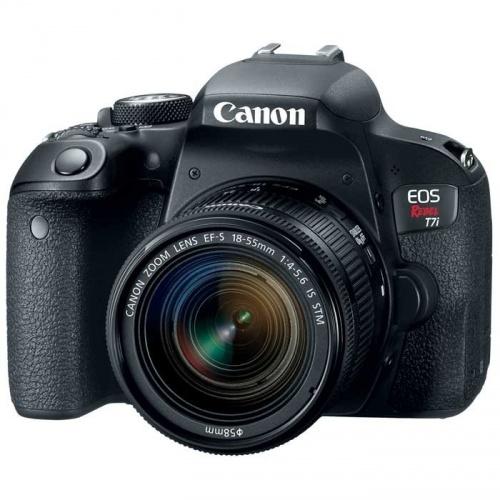 Cámara Réflex Canon EOS Rebel T7i, 24.2MP, Negro + Lente EF-S 18-55 IS STM