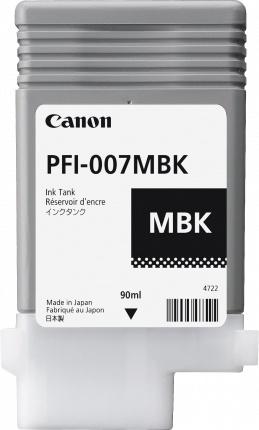Tanque de Tinta Canon PFI-007MBK Negro Mate, 90ml