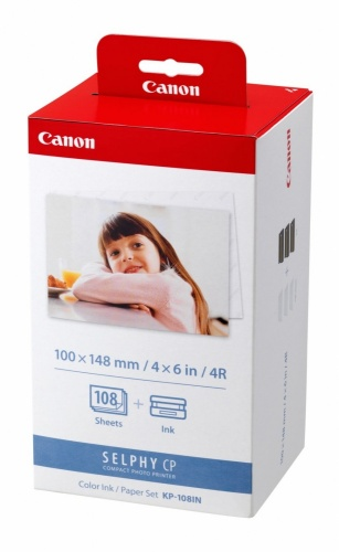 Canon Kit Cartucho y Papel KP-108IN, 108 Páginas de 4'' x 6'', 3 Cartuchos Color