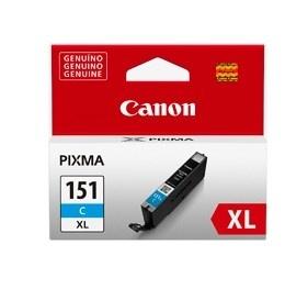 Tanque de Tinta Canon CLI-151 C XL Cyan 11ml, 700 Páginas