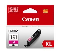 Tanque de Tinta Canon CLI-151 M XL Magenta 11ml, 670 Páginas