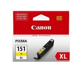 Tanque de Tinta Canon CLI-151 Y XL Amarillo 11ml, 700 Páginas
