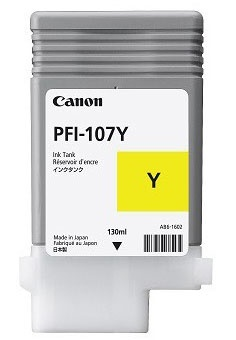 Tanque de Tinta Canon PFI-107Y Amarillo 130ml