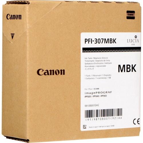 Tanque de Tinta Canon PFI-307 MBK Negro Matte 330ml