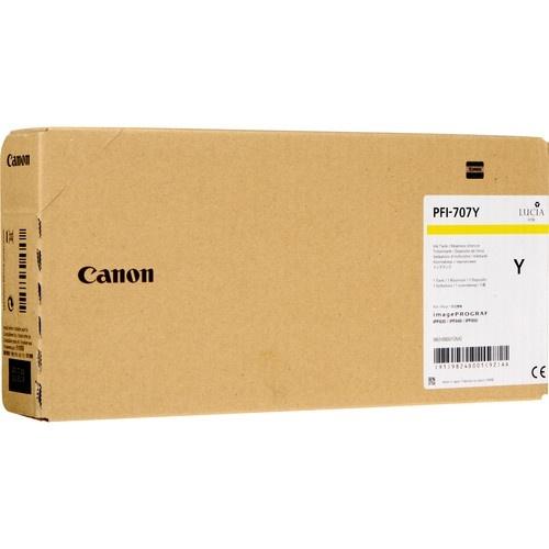 Tanque de Tinta Canon PFI-707 Amarillo, 700ml
