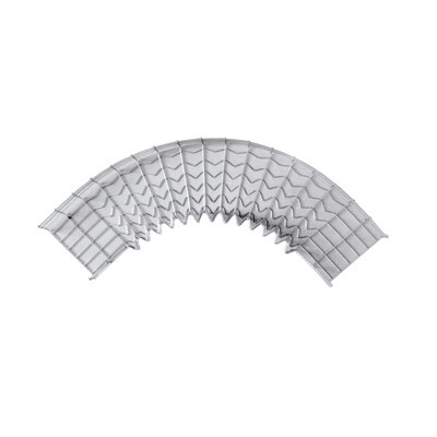 Charofil Curva Pre-Fabricada 90° 33/200 EZ, Gris