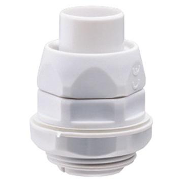 Charofil Conector de Tubería Flexible a Caja, PVC, 1'', Blanco