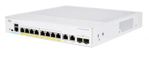 Switch Cisco Gigabit Ethernet CBS250, 8 Puertos 10/100/1000 PoE + 2 Puertos SFP, 1000 Mbit/s, 8.000 Entradas - Gestionado