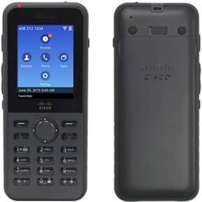 Cisco Teléfono IP 8821 con Pantalla 2.4'', Bluetooth, Inalámbrico, Altavoz, Negro - no incluye Bateria y Fuente de Poder