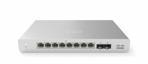 Switch Cisco Meraki Gigabit Ethernet MS120-8FP, 8 Puertos 10/100/1000Mbps + 2 Puertos SFP, 20 Gbit/s, 16.000 Entradas - Gestionado ― Requiere trámite de NOM, causando tiempo de entrega extendido