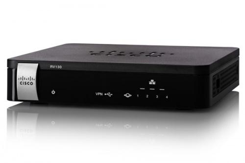 Cisco Router con Firewall RV130, Alámbrico, 1000 Mbit/s, 4x RJ-45, 1x USB 2.0