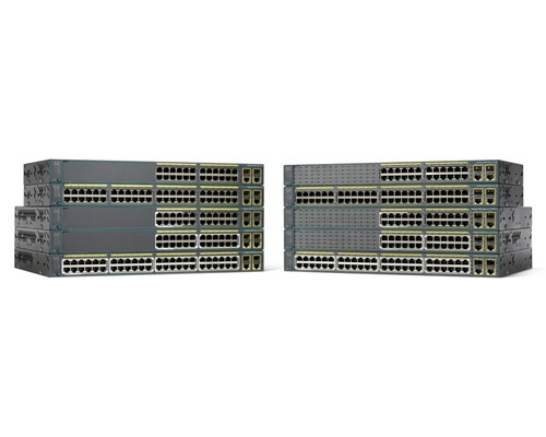 Switch Cisco Fast Ethernet Catalyst 2960-Plus, 24 Puertos 10/100 + 2 Puertos SFP - Gestionado