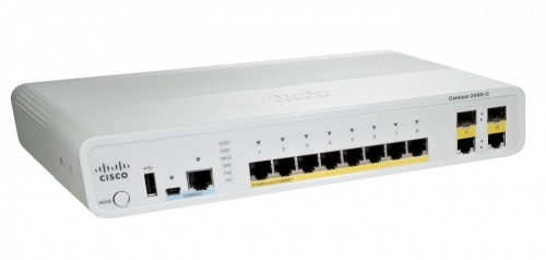 Switch Cisco Gigabit Ethernet Catalyst 2960-C PoE 2x Dual Uplink LAN Base, 15 Puertos 10/100/1000Mbps, 8000 Entradas - Gestionado