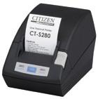 Citizen CT-S280, Impresora de Tickets, Térmica, 203 DPI, Serail, Negro