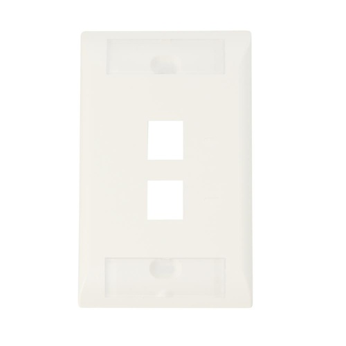 Comsscope Placa Vertical para Pared, 2 Puertos, RJ-45, Blanco