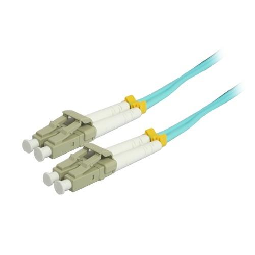 Comprehensive Cable Fibra Óptica Duplex Multimodo LC Macho - LC Macho, 50/125, 1 Metro,Turquesa