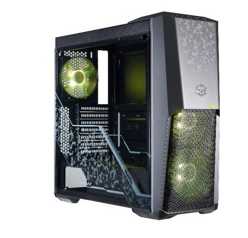 Gabinete Cooler Master MasterBox MB500 TUF con Ventana RGB, Midi-Tower, ATX/Micro-ATX/Mini-ITX, USB 3.0, sin Fuente, Negro