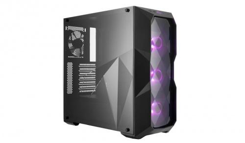 Gabinete Cooler Master MasterBox TD500 con Ventana RGB, Midi-Tower, ATX/micro-ATX/mini-ITX, USB 3.0, sin Fuente, Negro