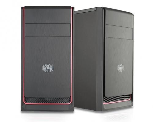Gabinete Cooler Master MasterBox E300L, Mini-Tower, micro-ATX/mini-ITX, USB 3.1, sin Fuente, Negro/Rojo