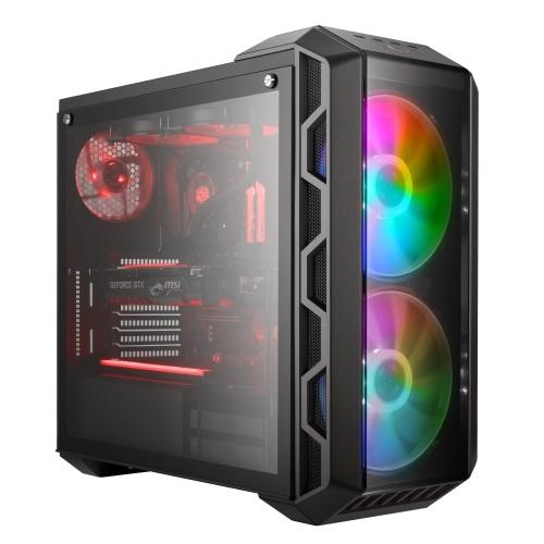 Gabinete Cooler Master MasterCase H500 con Ventana ARGB, Midi-Tower, SSI CEB/ATX/EATX/Micro-ATX/Mini-ITX, USB 3.2/2.0, sin Fuente, Gris