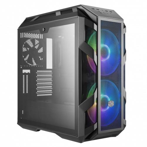 Gabinete Cooler Master H500M con Ventana RGB, Midi-Tower, ATX/EATX/Micro-ATX/Mini-ATX, USB 3.1, sin Fuente, Gris