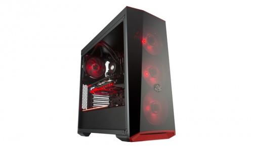Gabinete Cooler Master MasterBox Lite 5 RGB con Ventana, Midi-Tower, ATX/Micro-ATX/Mini-ITX, USB 3.0, sin Fuente, Negro