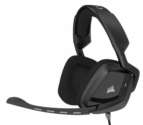 Corsair Audífonos Gamer VOID Surround Hybrid con USB Dolby 7.1, Alámbrico, 3.5mm, Negro