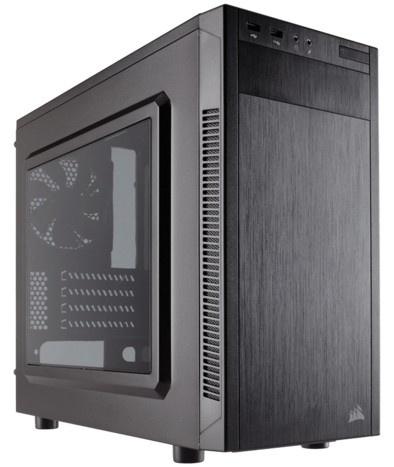 Gabinete Corsair Carbide 88R con Ventana, Midi-Tower, micro-ATX/mini-iTX, USB 2.0/3.0, sin Fuente, Negro