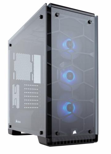 Gabinete Corsair Crystal 570X con Ventana LED RGB, Midi-Tower, ATX/Micro-ATX/Mini-ITX, USB 3.0, sin Fuente, Negro