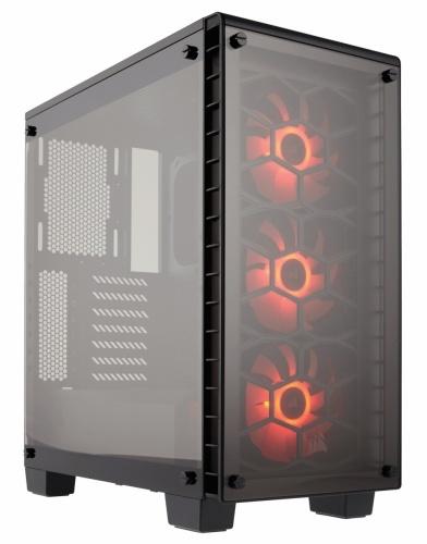 Gabinete Corsair Crystal 460X con Ventana, Midi-Tower, ATX/Micro-ATX/Mini-ITX, USB 3.0, sin Fuente, Negro