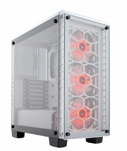Gabinete Corsair Crystal 460X RGB con Ventana, Midi-Tower, ATX/Micro-ATX/Mini-ITX, USB 3.0, sin Fuente, Blanco