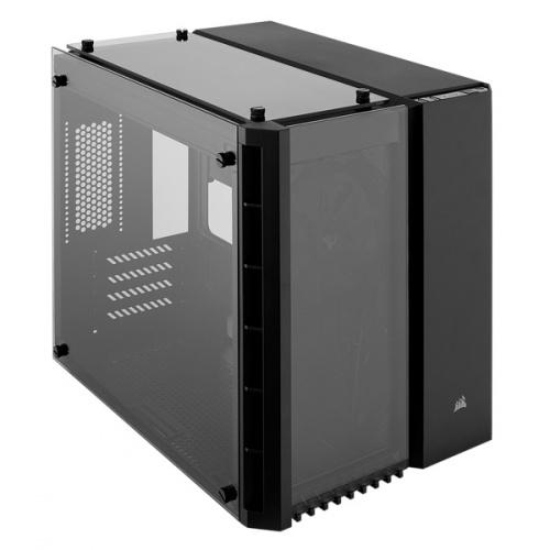 Gabinete Corsair Crystal 280X con Ventana, Micro-Tower, microATX, USB 3.0, sin Fuente, Negro