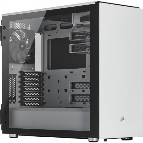 Gabinete Corsair Carbide 687C con Ventana, Midi-Tower, ATX/EATX/Micro ATX/Mini-ITX, USB 3.2, sin Fuente, Blanco