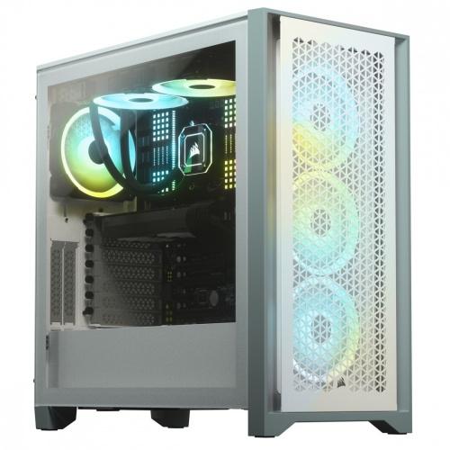 Gabinete Corsair 4000D Airflow con Ventana, Midi-Tower, ATX, USB 3.0, sin Fuente, Blanco