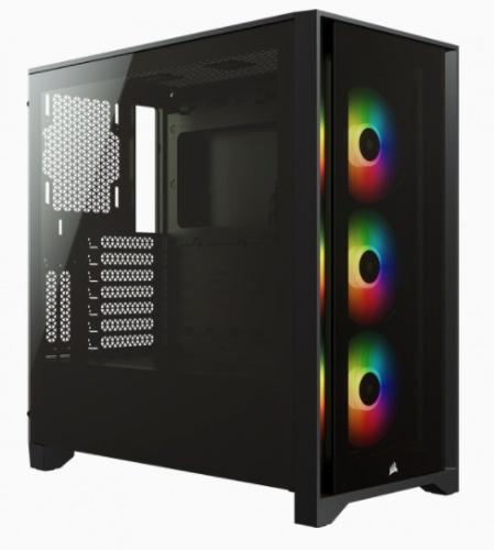 Gabinete Corsair  iCUE 4000X RGB con Ventana, Midi-Tower, ATX, USB 3.0, sin Fuente, Negro