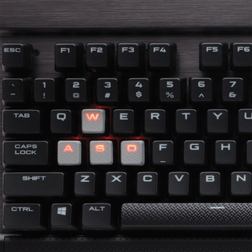 Teclado Gamer Corsair K70 LED Red, Teclado Mecánico, Cherry MX Red, Alámbrico, Negro