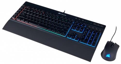 Kit Gamer de Teclado y Mouse Corsair incluye K55 + HARPOON RGB, Alámbrico, USB, Negro (Español)