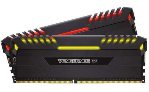 Kit Memoria RAM Corsair Vengeance RGB DDR4, 3200MHz, 16GB (2 x 8GB), Non-ECC, CL16, 1.35v