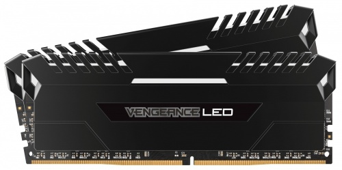 Kit Memoria RAM Corsair Vengeance LED DDR4, 3200MHz, 16GB (2 x 8GB), CL16, XMP
