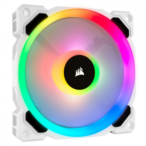 Ventilador Corsair CO-9050091-WW RGB, 120mm, 2200RPM, Blanco