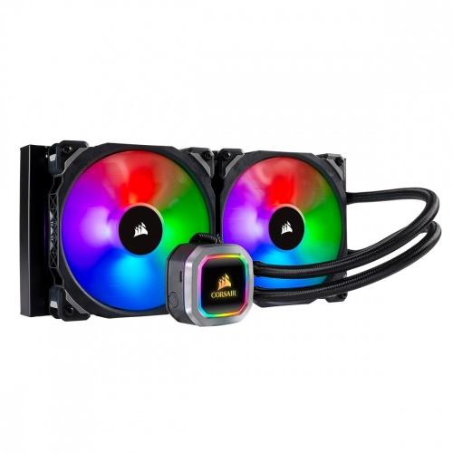 Corsair H115i RGB PLATINUM Enfriamiento Líquido para CPU, 2x 140mm, 400 - 2000RPM