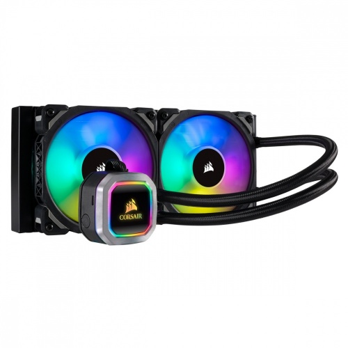 Corsair Hydro Series H100i Platinum Enfriamiento Líquido para CPU, 2x 120mm, 2400RPM, Negro