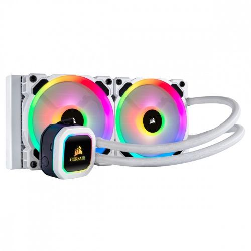 Corsair H100i RGB PLATINUM SE Enfriamiento Líquido para CPU, 2x 120mm, 2200RPM