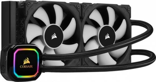 Corsair iCUE H100i RGB PRO XT Enfriamiento Líquido para CPU, 2x 120mm, 2400RPM