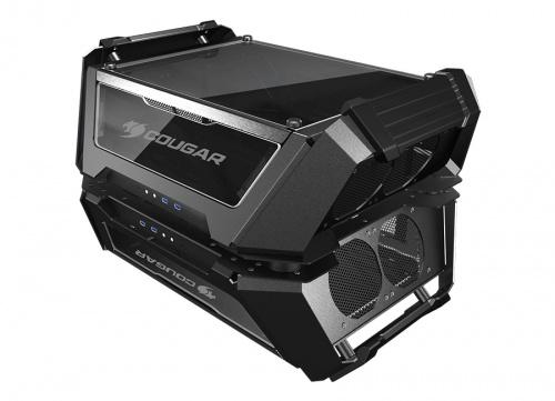 Gabinete Cougar Gemini X con Ventana, Dual Tower, ATX/CEB/Micro-ATX/Mini-ITX, USB 3.1, sin Fuente, Negro
